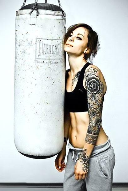 Arm Girl Tattoo Idea