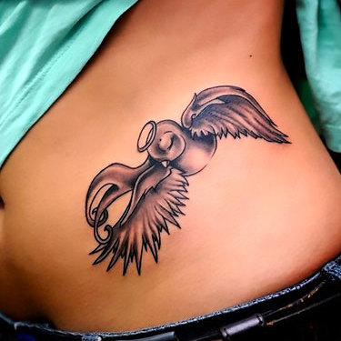 Lovely Swallow Tattoo