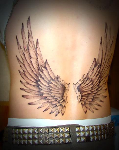 Wings for Men on Lower Back Tattoo Idea