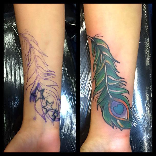 Wrist Cover Up Tattoo Idea