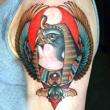 Egyptian Hawk Tattoo