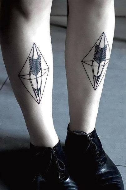 Arrow on Shin Tattoo Idea