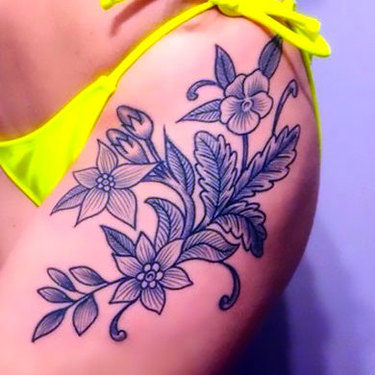 Lower Hip Tattoo