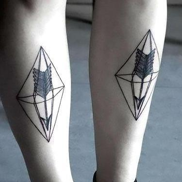 Arrow on Shin Tattoo
