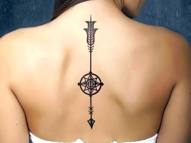 Arrow on Spine Tattoo Idea