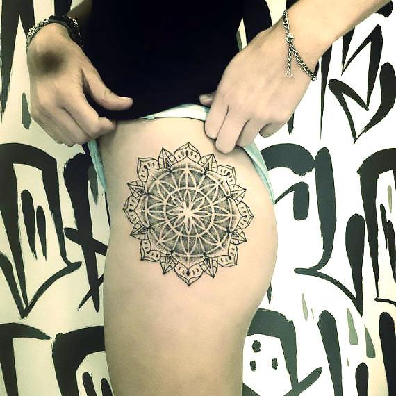 Mandala on Hip Tattoo Idea