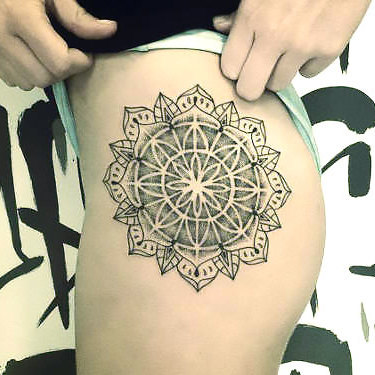 Mandala on Hip Tattoo