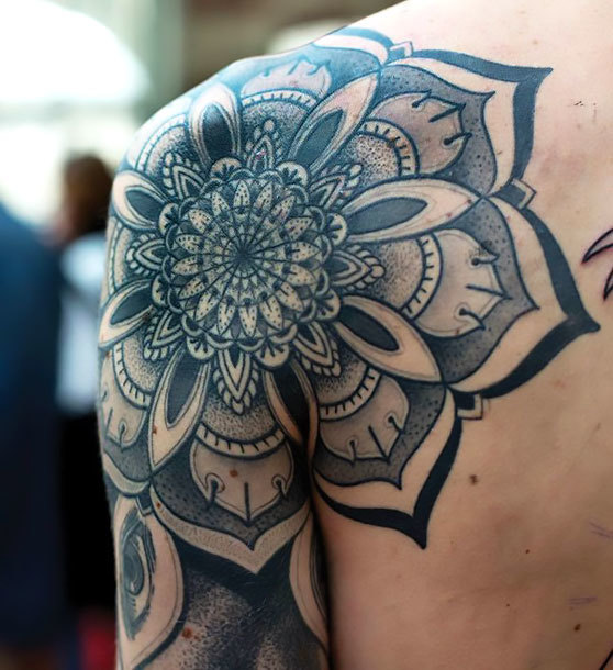 Mandala on Shoulder Tattoo Idea