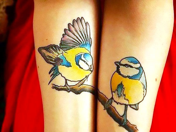 Matching Titmouse Birds Tattoo Idea