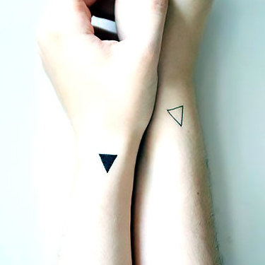 Matching Triangles Tattoo