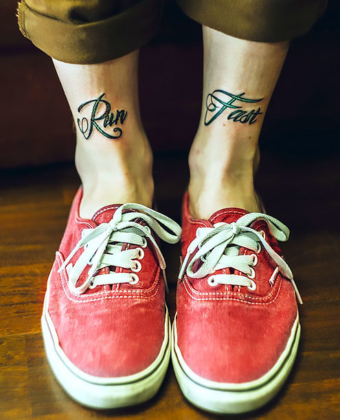 Mens Ankle Tattoo Idea