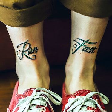 Mens Ankle Tattoo