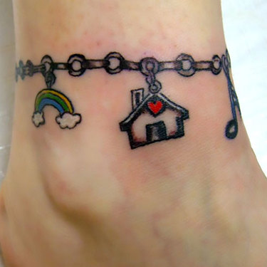 Mens Band on Ankle Tattoo
