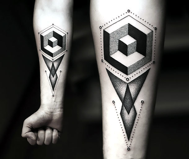 Modern Geometric Tattoo Idea