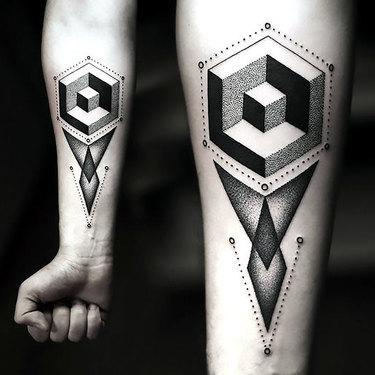 Modern Geometric Tattoo