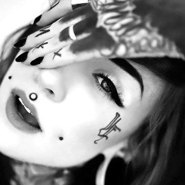 Monami Frost Face Tattoo