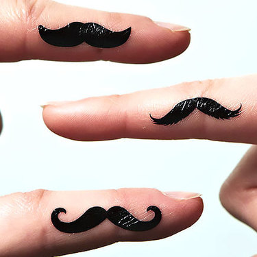Moustache on Finger Tattoo