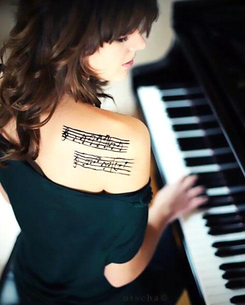 Music Shoulder Tattoo Idea