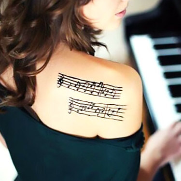 Music Shoulder Tattoo