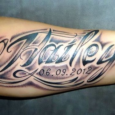 Name on Arm Tattoo