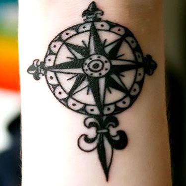 Nautical Star for Men on Wrist Tattoo