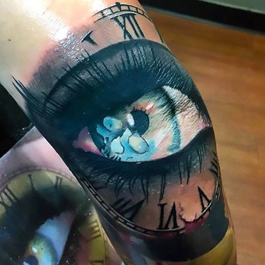 Eye on Elbow for Men Tattoo