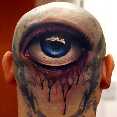 Eye on Head Tattoo