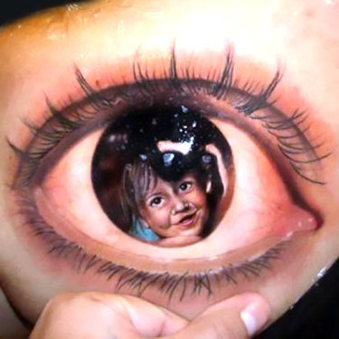 Eye on Shoulder Blade Tattoo