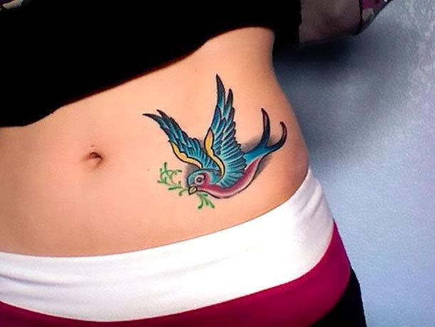 Swallow on Hip Tattoo Idea