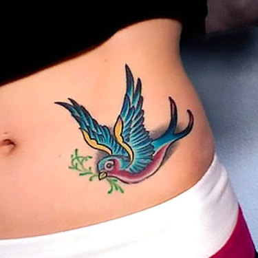 Swallow on Hip Tattoo