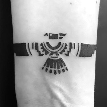 Thunderbird on Wrist Tattoo