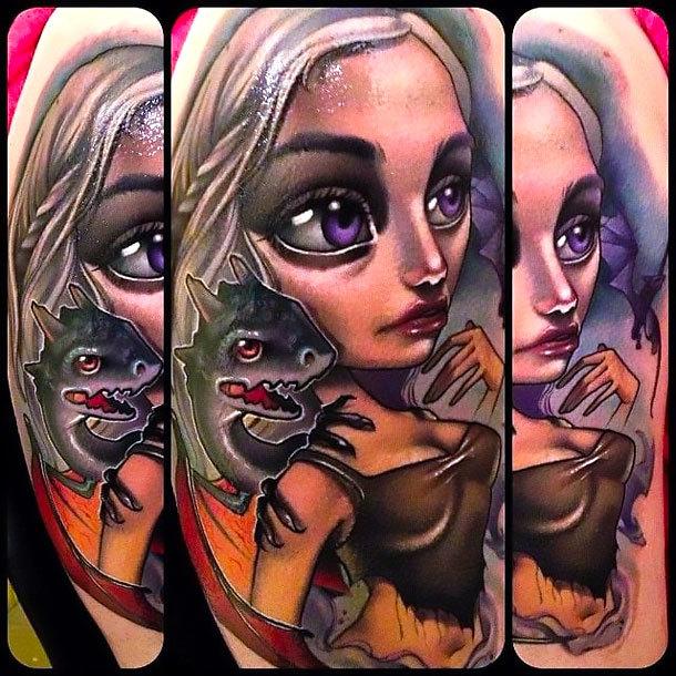 New School Daenerys Targaryen Tattoo Idea