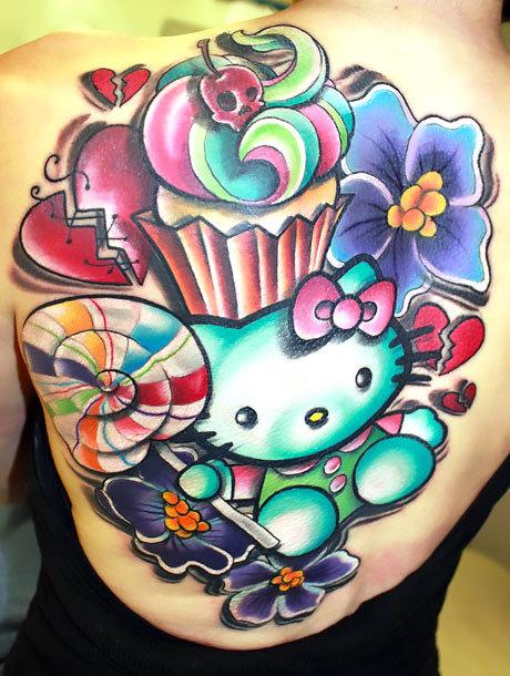 New School Hello Kitty Tattoo Idea