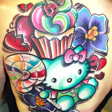 New School Hello Kitty Tattoo