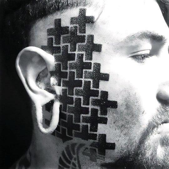 Nice Face Tattoo Idea
