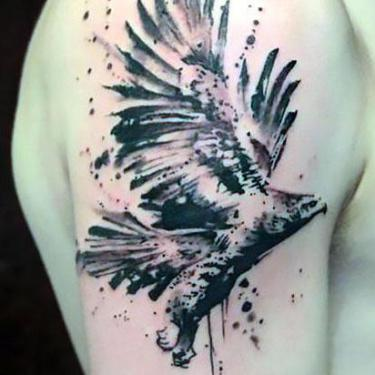 Awesome Eagle Tattoo on Shoulder Tattoo