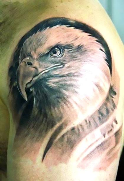 Nice Realistic Eagle Tattoo Idea