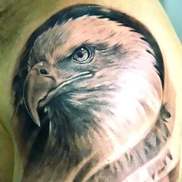 Nice Realistic Eagle Tattoo