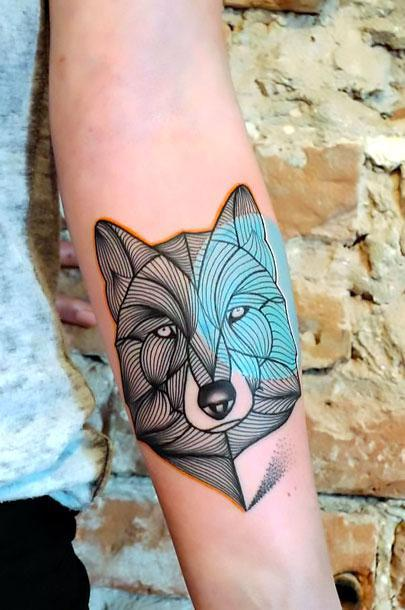 Awesome Forearm Wolf Tattoo Idea