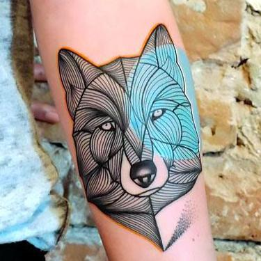 Awesome Forearm Wolf Tattoo