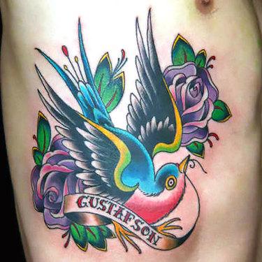 Old School Ribs Tattoo