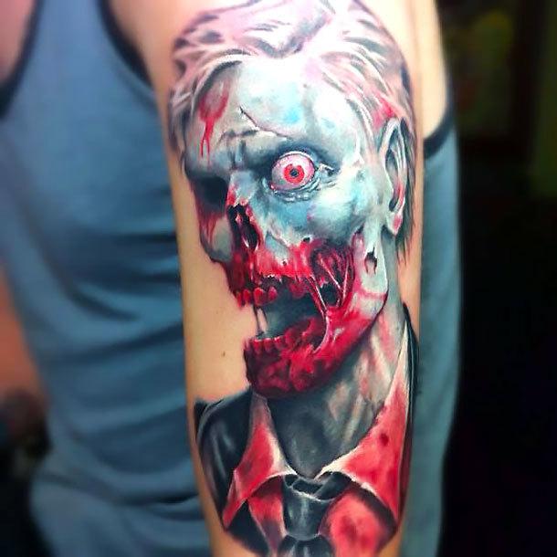 One Eyed Zombie Tattoo Idea