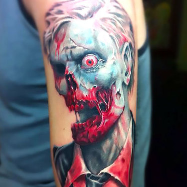 One Eyed Zombie Tattoo