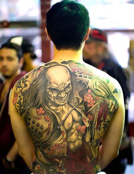 Oriental Bad Guy Tattoo Idea