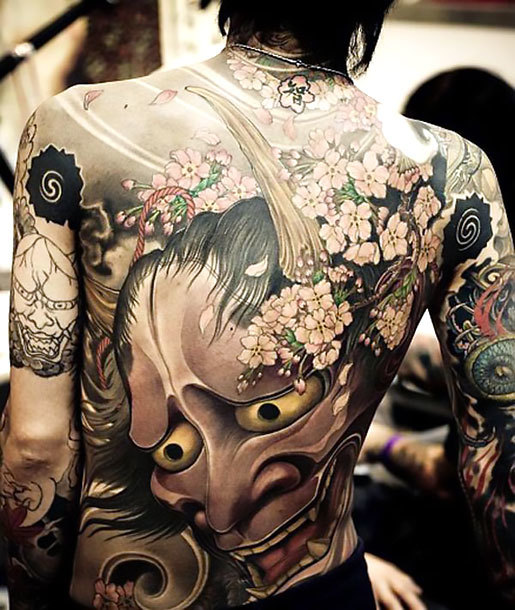 Oriental Hannya Mask Tattoo Idea