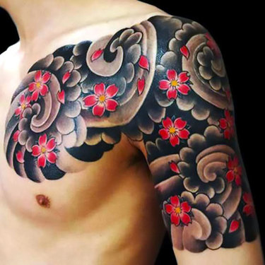 Oriental Half Sleeve Tattoo