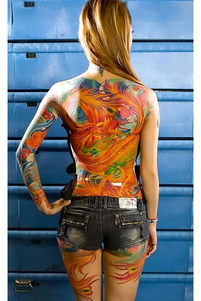 Oriental Red Dragon Tattoo Idea