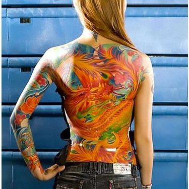 Oriental Red Dragon Tattoo