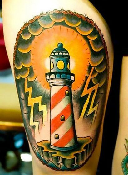 Traditional Lighthouse1 Tattoo Idea