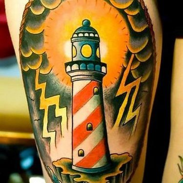 Traditional Lighthouse1 Tattoo